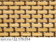 Текстура из соломы и бамбука, плетенка из тростника. Стоковое фото, фотограф Сергей Махан / Фотобанк Лори
