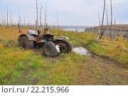 Сломанный трактор в тундре. Стоковое фото, фотограф Сергей Дрозд / Фотобанк Лори
