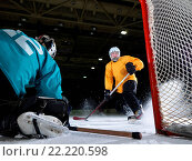 Купить «ice hockey goalkeeper», фото № 22220598, снято 5 июня 2020 г. (c) easy Fotostock / Фотобанк Лори