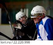 Купить «ice hockey players on bench», фото № 22220998, снято 5 июня 2020 г. (c) easy Fotostock / Фотобанк Лори