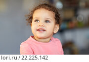 beautiful little mulatto baby girl face. Стоковое фото, фотограф Syda Productions / Фотобанк Лори
