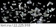 Купить «close up of us dollar money flying over black», фото № 22225918, снято 2 июля 2015 г. (c) Syda Productions / Фотобанк Лори