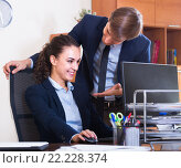 Купить «Sexual harassment between colleagues», фото № 22228374, снято 27 февраля 2020 г. (c) Яков Филимонов / Фотобанк Лори