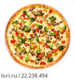 Сочная новогодняя пицца круг. Стоковое фото, фотограф Павел / Фотобанк Лори