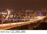 Купить «Белгород. Ночной вид города со смотровой площадки», эксклюзивное фото № 22266286, снято 6 января 2016 г. (c) Литвяк Игорь / Фотобанк Лори