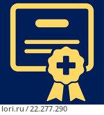 Купить «Medical Certification Icon», фото № 22277290, снято 20 апреля 2019 г. (c) easy Fotostock / Фотобанк Лори
