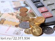 Купить «Деньги и калькулятор», эксклюзивное фото № 22311934, снято 21 марта 2016 г. (c) Яна Королёва / Фотобанк Лори