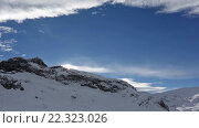 Купить «Winter Morning Rock Top View, Austria», видеоролик № 22323026, снято 20 марта 2016 г. (c) Юрий Брыкайло / Фотобанк Лори