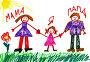 Семья. Детский рисунок, фото № 22331838, снято 24 марта 2016 г. (c) Элина Гаревская / Фотобанк Лори