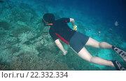 Купить «Дайвинг вдоль кораллов», видеоролик № 22332334, снято 2 января 2016 г. (c) Андрей Армягов / Фотобанк Лори