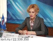 Купить «Ирина Яровая», фото № 22339350, снято 24 марта 2016 г. (c) Андрей Ярцев / Фотобанк Лори