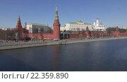 Купить «Москва. Кремлевская набережная», видеоролик № 22359890, снято 26 марта 2016 г. (c) Alexey Zab / Фотобанк Лори