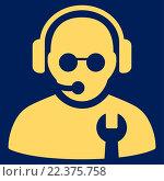 Купить «Service Operator Icon», фото № 22375758, снято 19 сентября 2018 г. (c) easy Fotostock / Фотобанк Лори