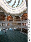 Купить «Интерьер Московской соборной мечети», фото № 22384562, снято 28 марта 2016 г. (c) Владимир Журавлев / Фотобанк Лори