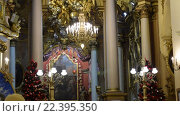 Купить «В соборе святого Георгия во Львове», видеоролик № 22395350, снято 6 февраля 2016 г. (c) Валерий Гусак / Фотобанк Лори