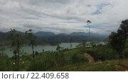Купить «view to lake or river from land hills», видеоролик № 22409658, снято 16 февраля 2016 г. (c) Syda Productions / Фотобанк Лори
