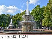 Римские фонтаны в летний день. Петергоф, Нижний парк (2015 год). Редакционное фото, фотограф Ирина Борсученко / Фотобанк Лори