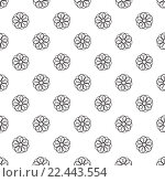Купить «Seamless Black and White Abstract Pattern from Repetitive Concentric Circles», иллюстрация № 22443554 (c) PantherMedia / Фотобанк Лори