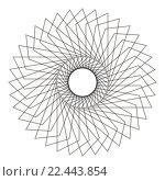 Купить «Abstract Spirograph Concentric Circle Pattern on white background», иллюстрация № 22443854 (c) PantherMedia / Фотобанк Лори