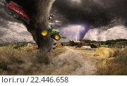 Large Tornado disaster. Стоковое фото, фотограф sebastien decoret / PantherMedia / Фотобанк Лори