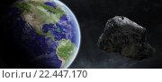 Купить «Asteroids threat over planet earth», фото № 22447170, снято 15 июля 2020 г. (c) PantherMedia / Фотобанк Лори