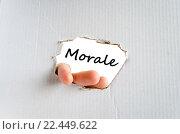 Купить «Morale text concept», фото № 22449622, снято 14 декабря 2018 г. (c) PantherMedia / Фотобанк Лори