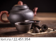 Купить «Hot pu-erh tea», фото № 22451954, снято 18 августа 2018 г. (c) PantherMedia / Фотобанк Лори