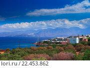 Вид на побережье залива Мирабелло. Крит (2013 год). Стоковое фото, фотограф Алексей Лобанов / Фотобанк Лори