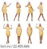 Купить «Composite photo of woman in various poses», фото № 22455666, снято 1 сентября 2014 г. (c) Elnur / Фотобанк Лори