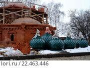Строящийся храм в Костроме (2016 год). Стоковое фото, фотограф Семенова Ольга Евгеньевна / Фотобанк Лори