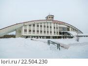 Купить «Железнодорожный вокзал Лабытнанги», фото № 22504230, снято 29 января 2015 г. (c) Михаил Трибой / Фотобанк Лори