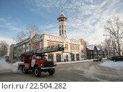Купить «Историческое здание пожарной каланчи в Сыктывкаре», фото № 22504282, снято 23 января 2015 г. (c) Михаил Трибой / Фотобанк Лори
