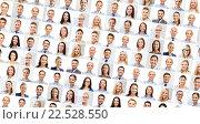 Купить «collage with many business people portraits», фото № 22528550, снято 24 февраля 2020 г. (c) Syda Productions / Фотобанк Лори