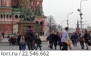 Купить «Москва, Красная площадь, вид на памятник Минину и Пожарскому», эксклюзивный видеоролик № 22546662, снято 10 апреля 2016 г. (c) Alexei Tavix / Фотобанк Лори