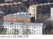 Купить «Московская область, Балашиха, жилые пятиэтажки на вроспекте Ленина», эксклюзивное фото № 22546670, снято 4 апреля 2016 г. (c) Дмитрий Неумоин / Фотобанк Лори