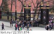 Купить «Люди в Александровском саду», эксклюзивный видеоролик № 22551874, снято 11 апреля 2016 г. (c) Alexei Tavix / Фотобанк Лори