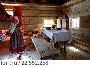 Интерьер поморского дома 19 век (2016 год). Редакционное фото, фотограф Олег Велигданов / Фотобанк Лори