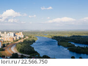 Купить «Уфа. Вид на реку», фото № 22566750, снято 25 июля 2015 г. (c) Михаил Валеев / Фотобанк Лори