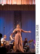 Купить «Дебора Дэвис на сцене», фото № 22568438, снято 20 января 2013 г. (c) Наталья Саратова / Фотобанк Лори