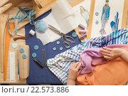 Table of skilled tailors working. Стоковое фото, фотограф Владимир Мельников / Фотобанк Лори