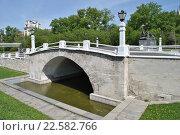 Купить «Мост имени 1905 года (Горбатый мост). Москва», эксклюзивное фото № 22582766, снято 8 мая 2014 г. (c) lana1501 / Фотобанк Лори