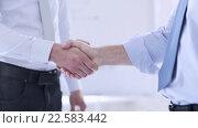 Купить «two businessmen shaking their hands», видеоролик № 22583442, снято 16 марта 2016 г. (c) Syda Productions / Фотобанк Лори