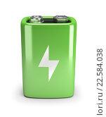 Купить «Зеленая батарейка», иллюстрация № 22584038 (c) Anatoly Maslennikov / Фотобанк Лори