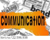 Купить «Word cloud with communication word on yellow and red banner», фото № 22596938, снято 16 сентября 2019 г. (c) PantherMedia / Фотобанк Лори