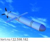 Крылатая ракета в небе. Стоковая иллюстрация, иллюстратор Алексей Романенко / Фотобанк Лори