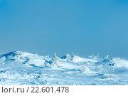 Купить «Icy snowy winter hill.», фото № 22601478, снято 30 января 2016 г. (c) Юрий Брыкайло / Фотобанк Лори