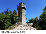 Купить «Башня Монтале. Сан-Марино», фото № 22602510, снято 16 июня 2012 г. (c) Сергей Афанасьев / Фотобанк Лори