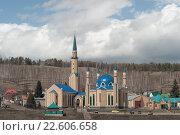 Купить «Мечеть. Город Лениногорск», фото № 22606658, снято 23 апреля 2015 г. (c) Наталья Жесткова / Фотобанк Лори