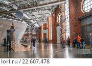 Купить «Интерьер хола еврейского музея и центра толерантности в Москве», эксклюзивное фото № 22607478, снято 17 апреля 2016 г. (c) Виктор Тараканов / Фотобанк Лори