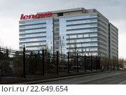 Купить «Город Москва. Бизнес-центр «Кубик». Представительство Lenovo», фото № 22649654, снято 20 апреля 2016 г. (c) Зобков Георгий / Фотобанк Лори